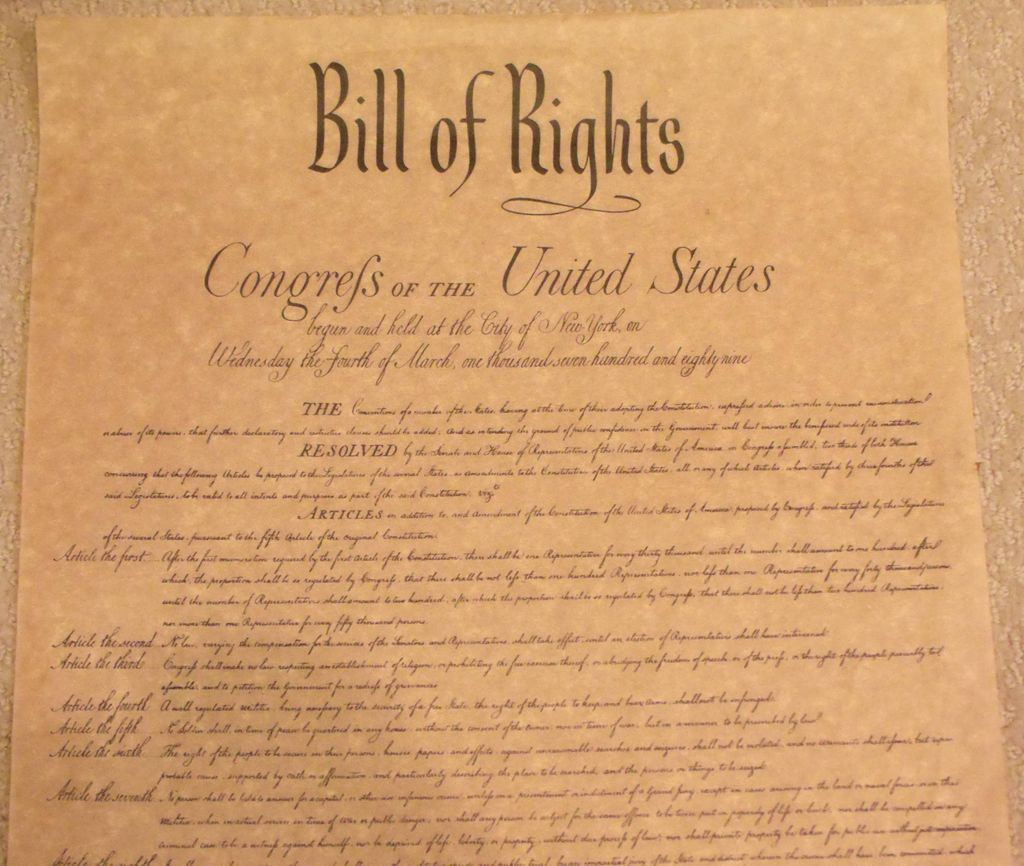 An overview of the bill of rights in the united states constitution