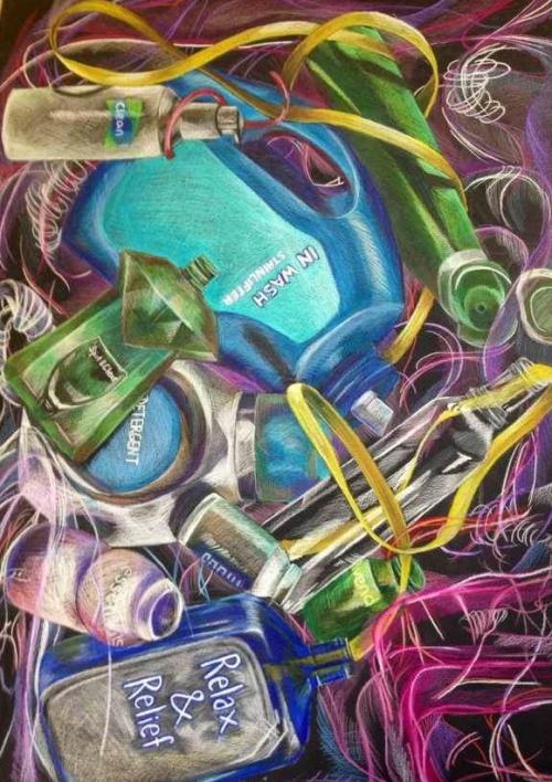 Color Pencil Waste 2