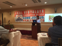 Speaking at the Ekal US conference in New York on September 2016.